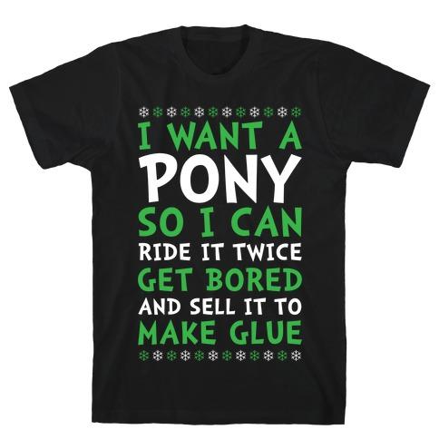 Grinch Pony Mens T-Shirt