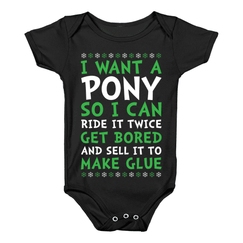 Grinch Pony Baby Onesy