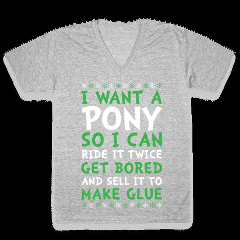 Grinch Pony V-Neck Tee Shirt