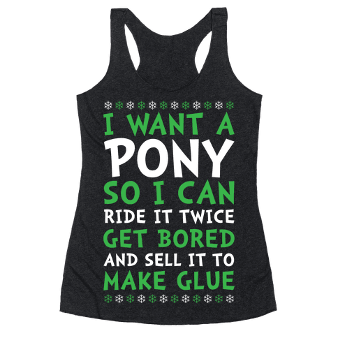Grinch Pony Racerback Tank Top