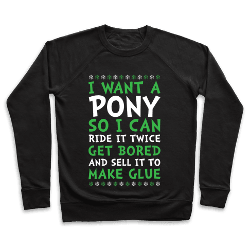 Grinch Pony Pullover