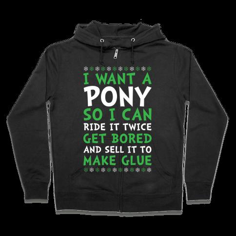 Grinch Pony Zip Hoodie