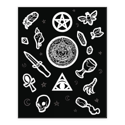 Witchcraft Supplies Occult Sticker and Decal Sheet