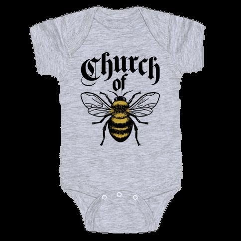 Church Of Bee Baby Onesy