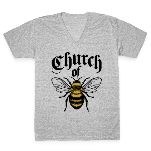 Church Of Bee V-Neck Tee Shirt