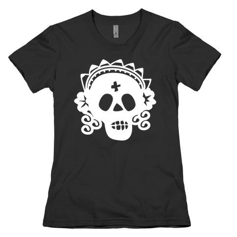 Skull Bride Womens T-Shirt