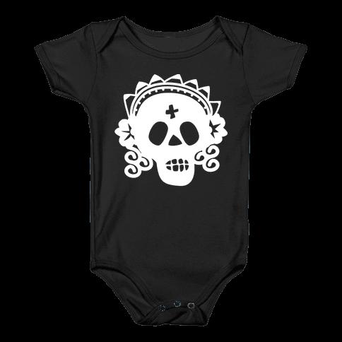 Skull Bride Baby Onesy