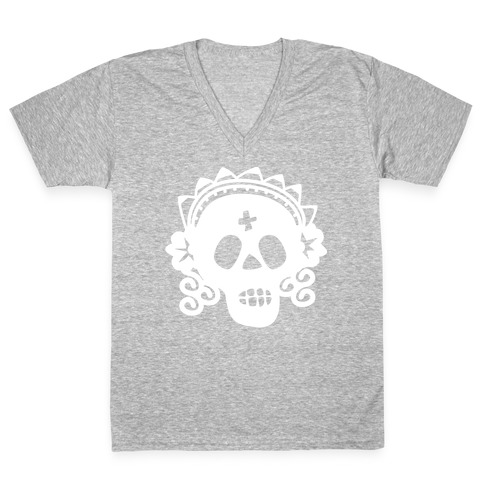 Skull Bride V-Neck Tee Shirt