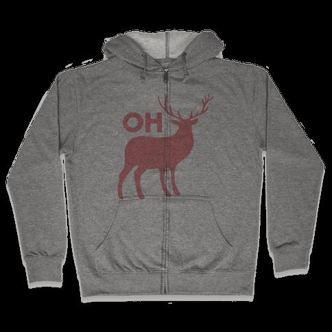 Oh Deer Zip Hoodie