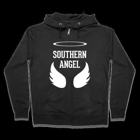 Southern Angel Zip Hoodie