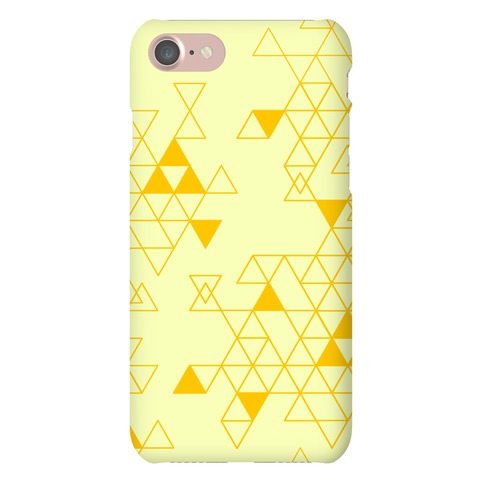 Geometric Triforce Pattern Phone Case