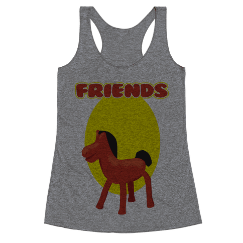 Clay Friends (right) Racerback Tank Top