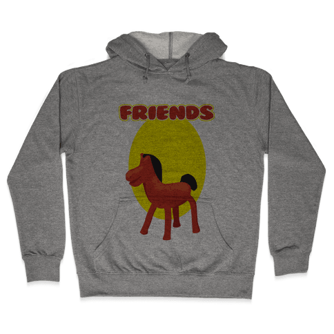 Clay Friends (right) Hooded Sweatshirt
