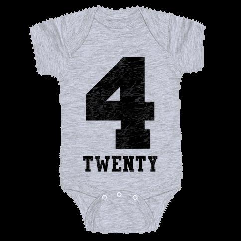 4 Twenty (smoker tank) Baby Onesy