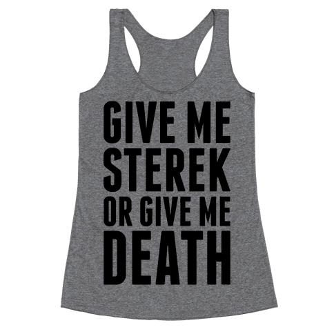 Give Me Sterek Or Give Me Death Racerback Tank Top