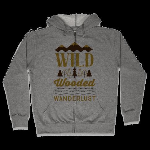Wild Wooded Wanderlust Zip Hoodie
