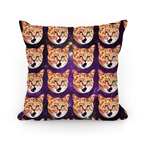 Pizza Cat Galaxy Pillow