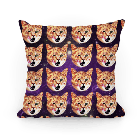 Pizza Cat Galaxy Pillow
