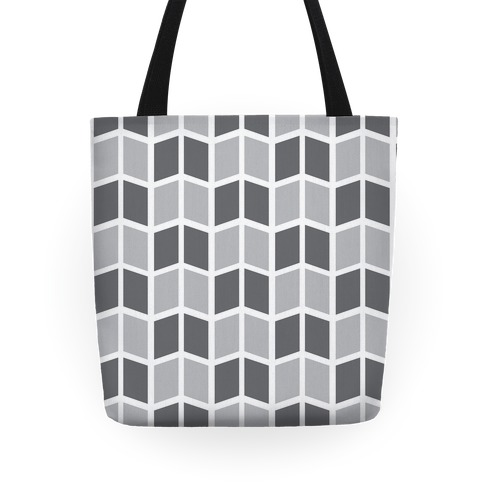 Parallelogram Pattern Tote (Gray) Tote