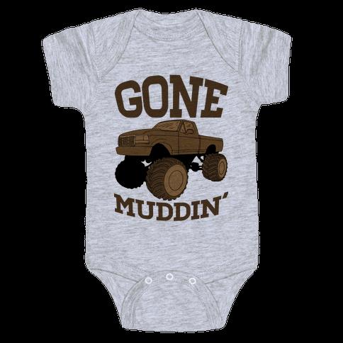 Gone Muddin' Truck Baby Onesy