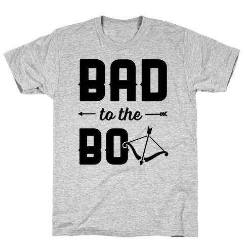 Bad To The Bow Mens T-Shirt