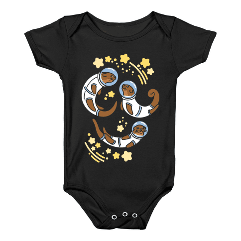 Otters In Space Baby Onesy