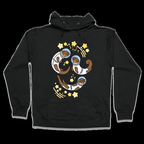 Otters In Space Hooded Sweatshirt
