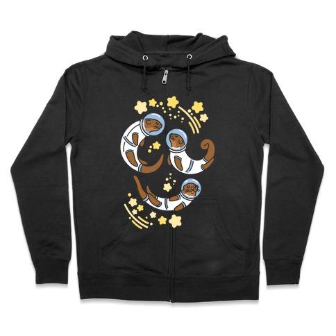 Otters In Space Zip Hoodie