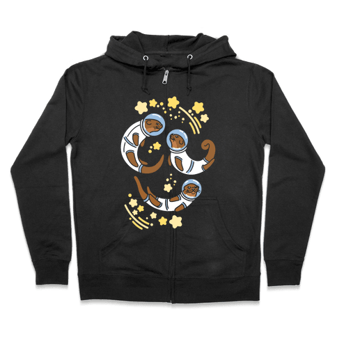 Otters In Space Zip Hoodie