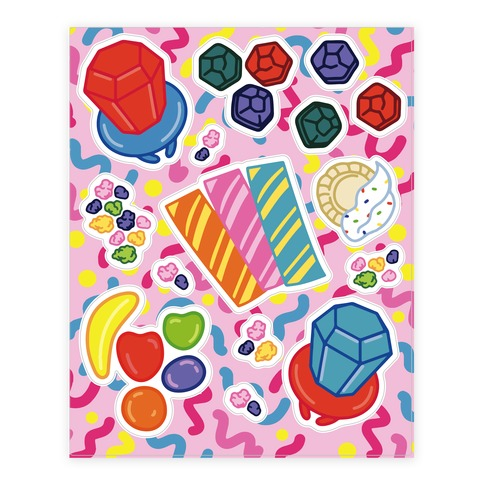 90's Candy Sticker and Decal Sheet