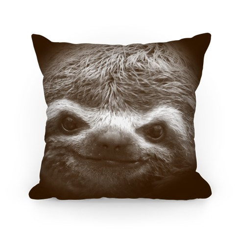 Sloth Face Pillow