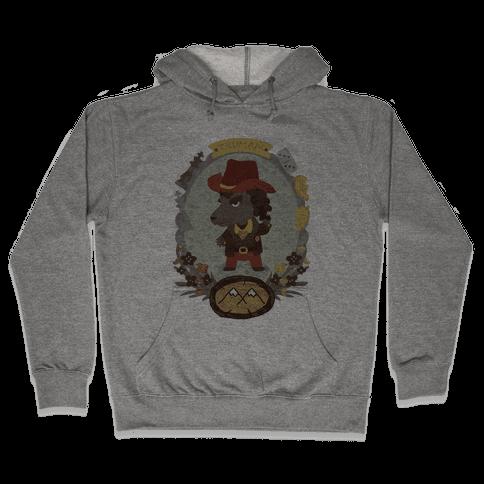 Sherif Truman Wolf Hooded Sweatshirt