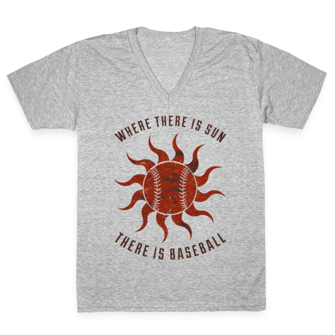Where There Is Sun V-Neck Tee Shirt