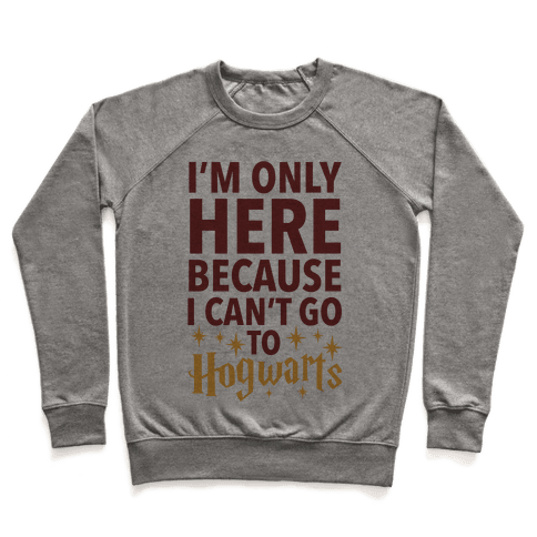I'm Only Here Because I Can't Go To Hogwarts Pullover