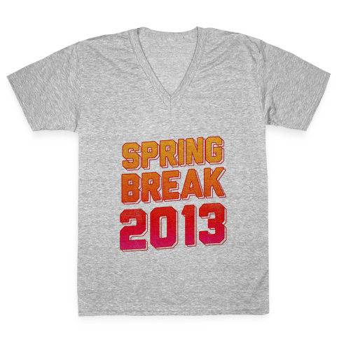 Spring Break 2013 V-Neck Tee Shirt