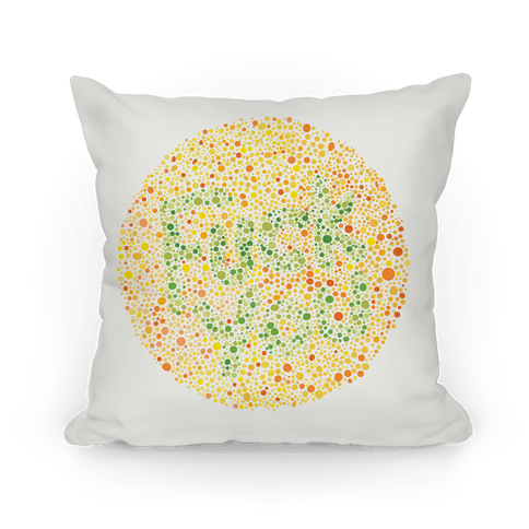 Color Blind Test ( F*** You) Pillow Pillow