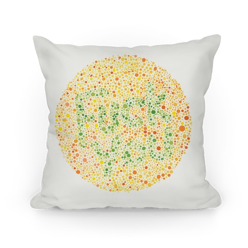 Color Blind Test ( Fuck You) Pillow