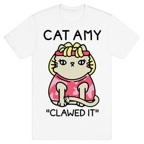 Cat Amy Mens T-Shirt