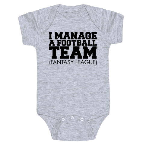 Football Manager Baby Onesy