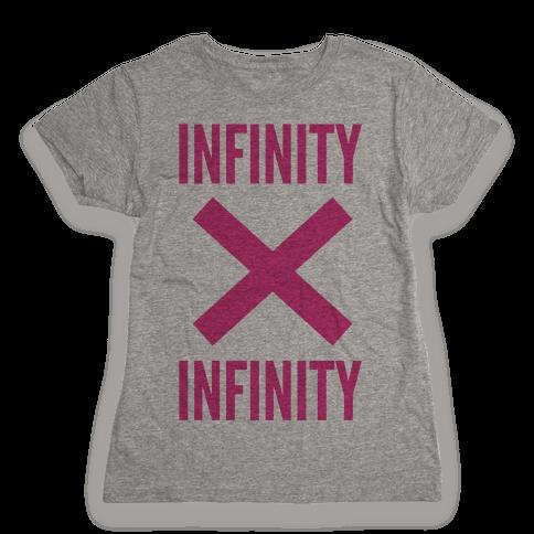 Infinity Times Infinity Womens T-Shirt