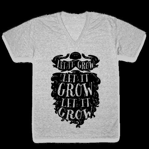 Let It Grow V-Neck Tee Shirt