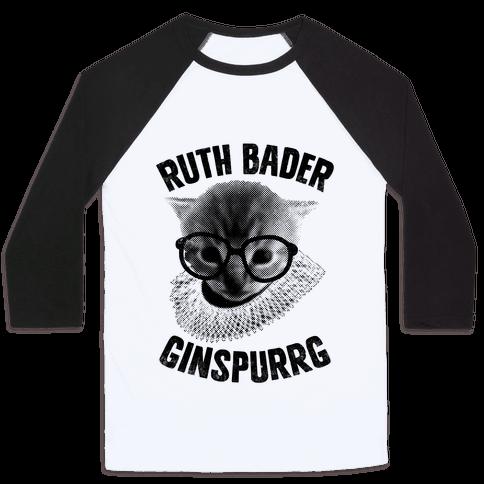 Ruth Bader Ginspurrg (Vintage) Baseball Tee