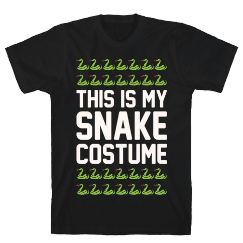 This Is My Snake Costume White Print Mens T-Shirt