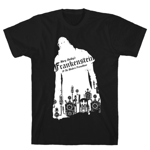 Mary Shelley's Frankenstein Mens T-Shirt