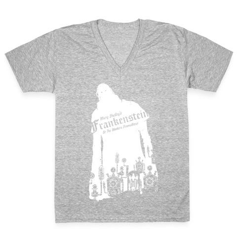 Mary Shelley's Frankenstein V-Neck Tee Shirt