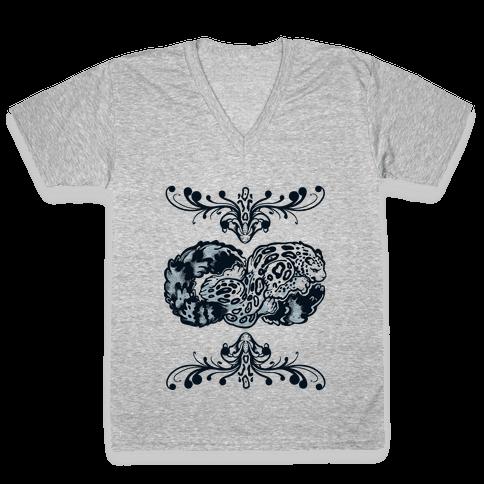 Infinity Snow Leopard V-Neck Tee Shirt