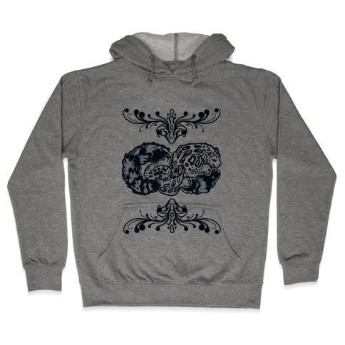 Infinity Snow Leopard Hooded Sweatshirt