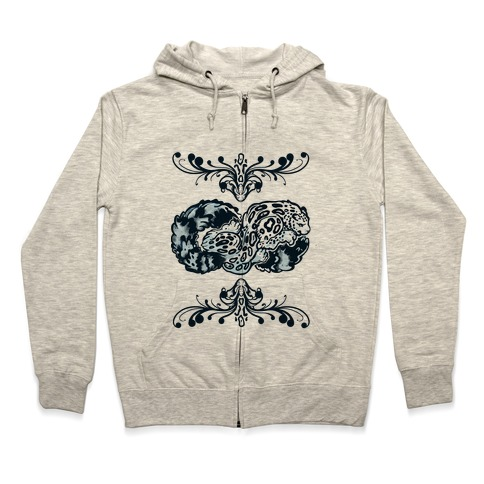 35e9667a2485 Infinity Snow Leopard Hoodie | LookHUMAN