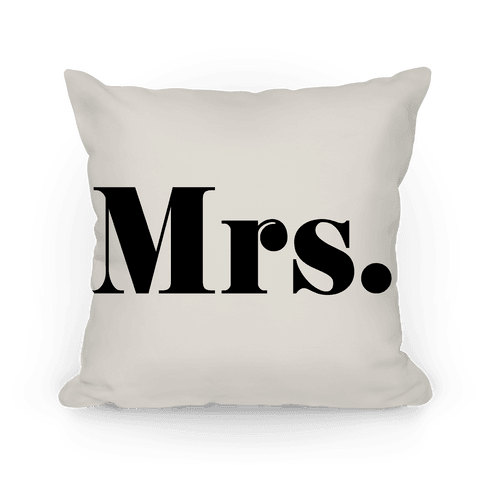 Mrs. (of mr. & mrs. set) Pillow