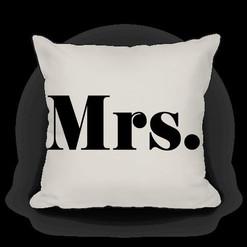 Mrs. (of mr. & mrs. set)